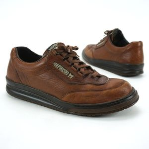 MEPHISTO Match Runoff Grain Leather Walking Shoes